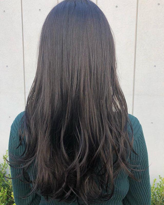 ヘアカラー 暗髪
