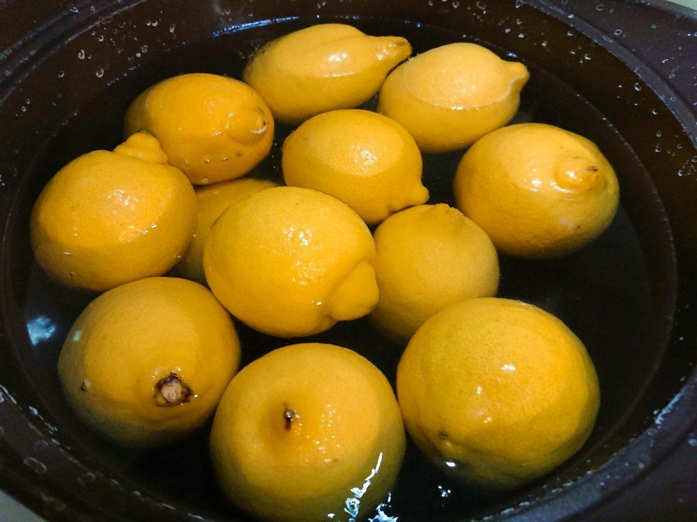 レモン 茹でる