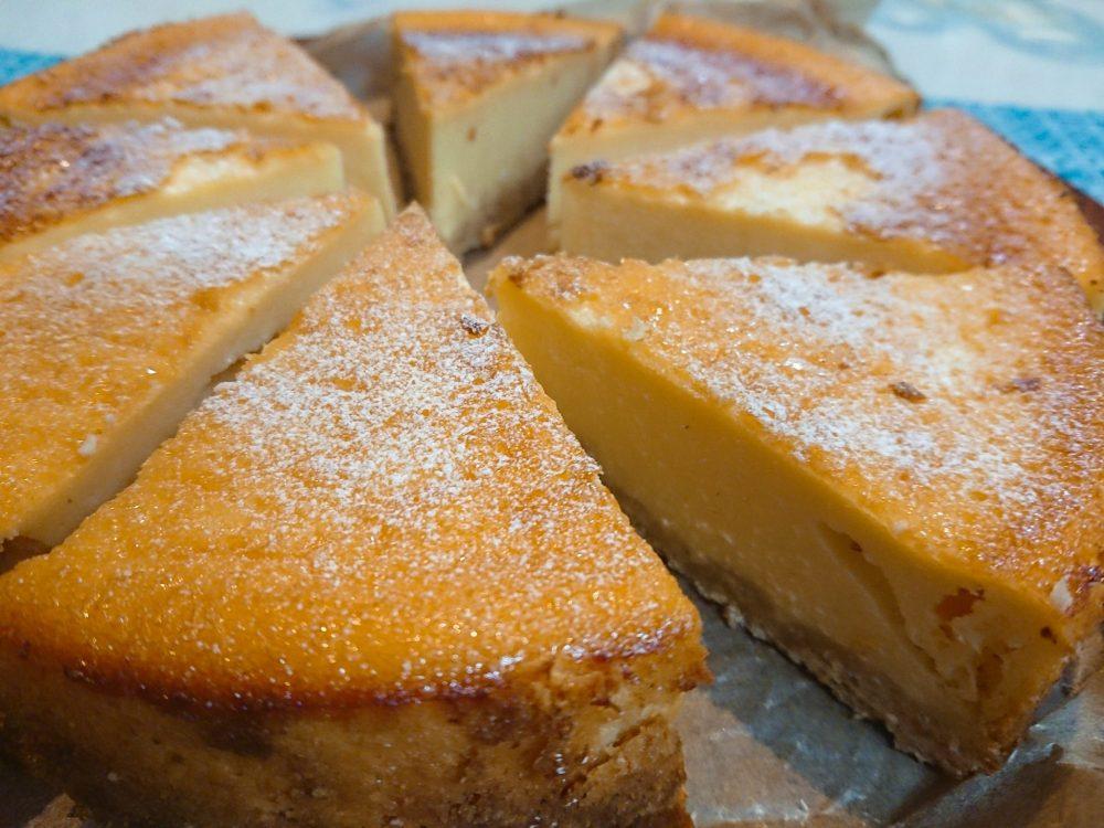 レモンチーズケーキ 焼きあがり