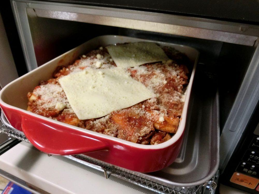 パン耳ミートグラタン チーズ オーブントースター