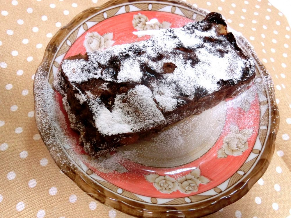 パン耳ココアケーキ