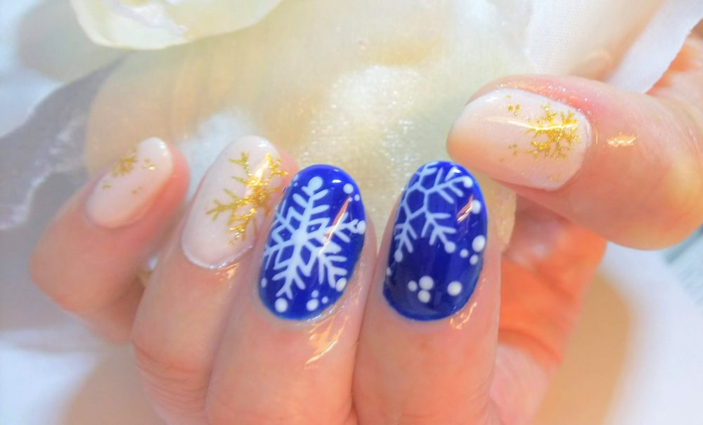 ネイル 雪の結晶