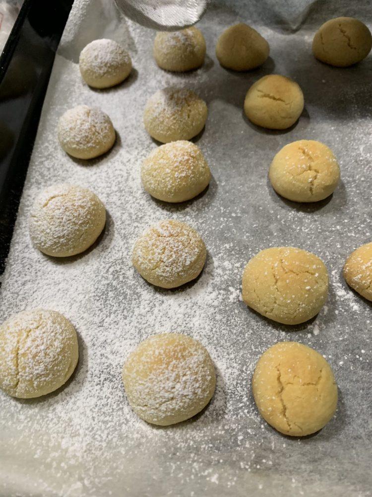 スノーボールクッキー 焼き上がり