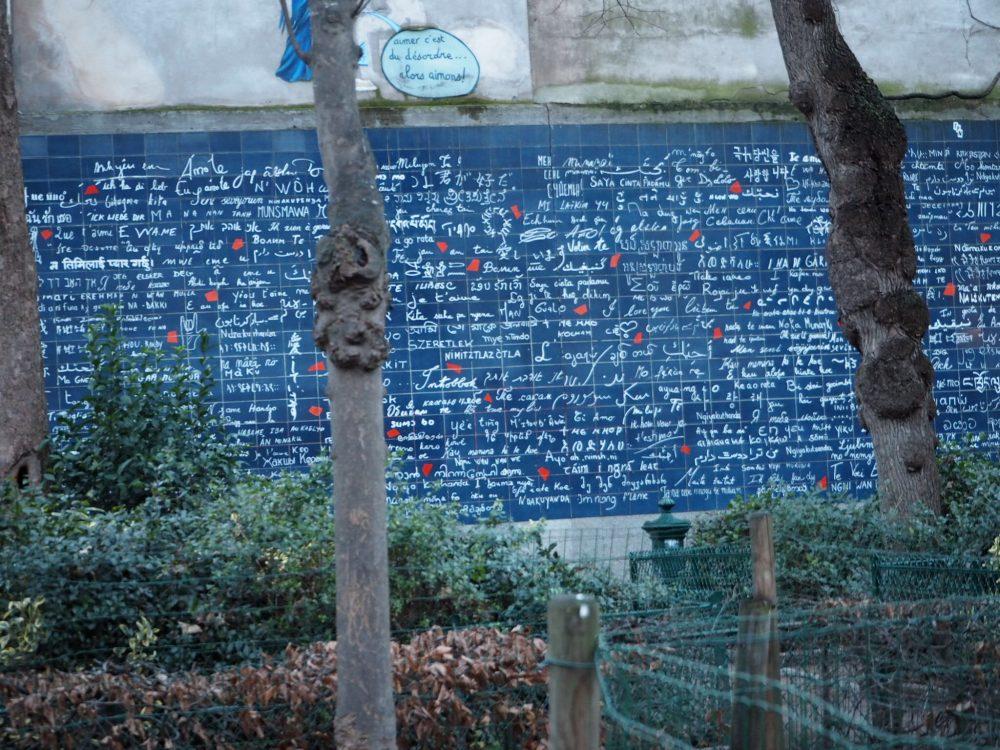 パリ モンマントルの丘 ジュテームの壁