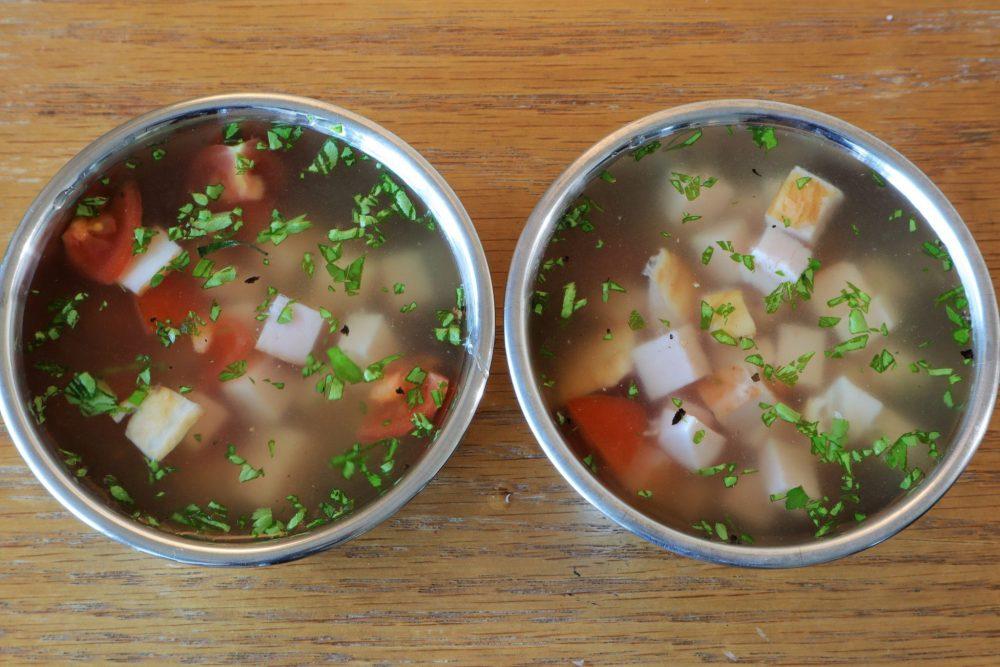 ハムとプチトマトのゼリー 作り方