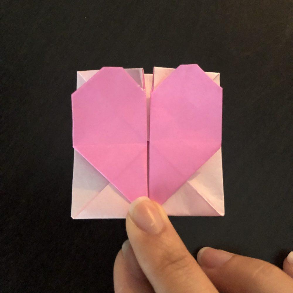 折り紙 ハートメッセージカード