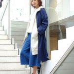 FONTLAB スター刺繍ワイドデニム ブルー
