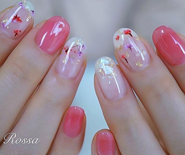 ネイル ピンク