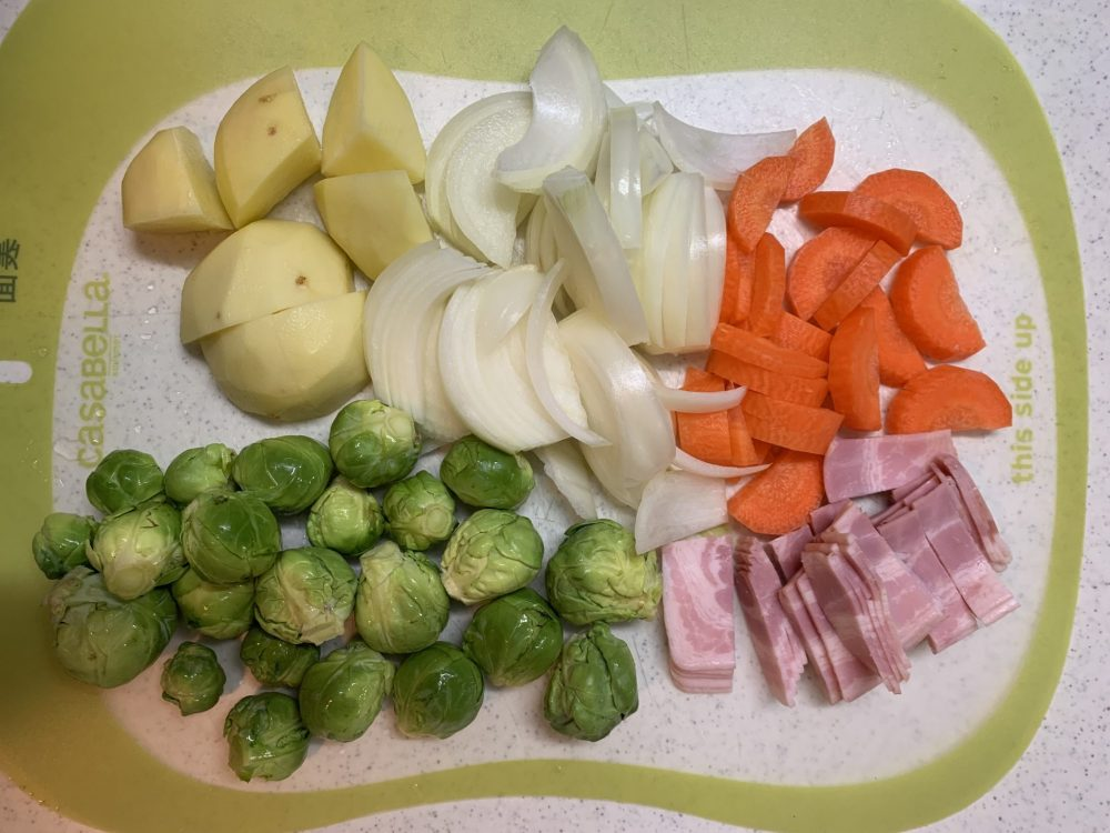 芽キャベツのコンソメスープ 作り方