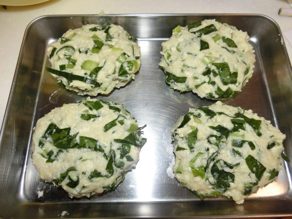 小松菜入り鶏つくね 作り方