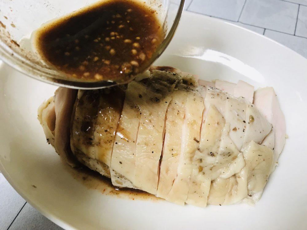 上海風蒸し鶏 作り方