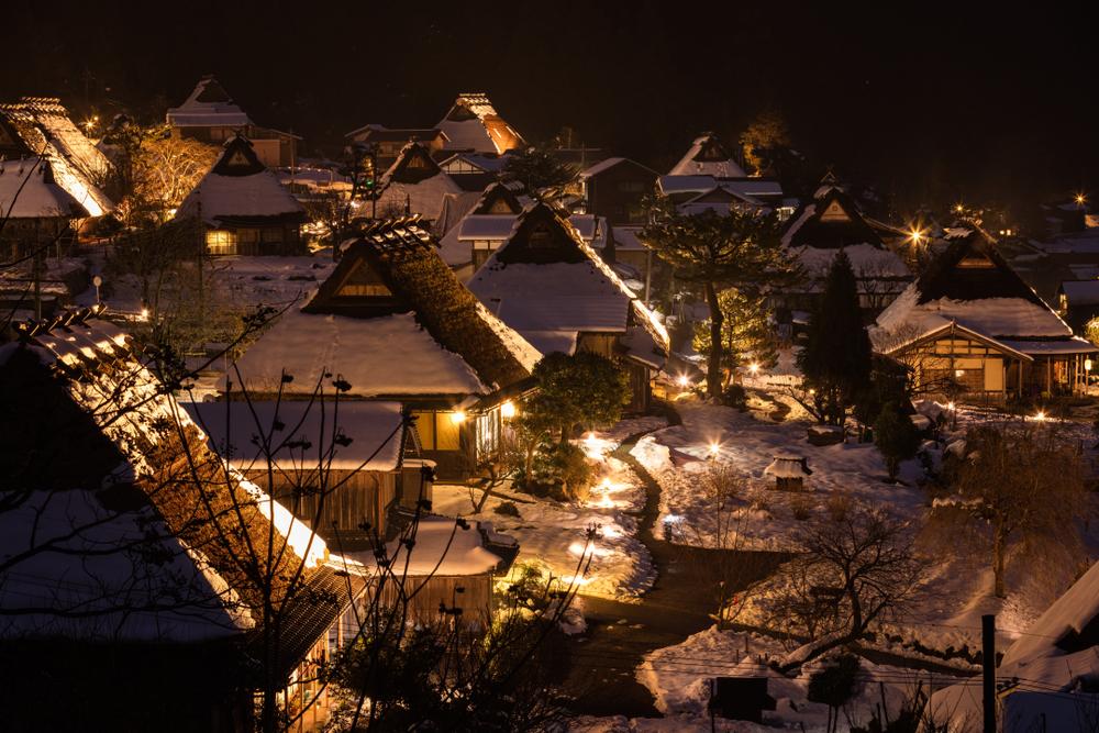 美山町 かやぶきの里 ライトアップ