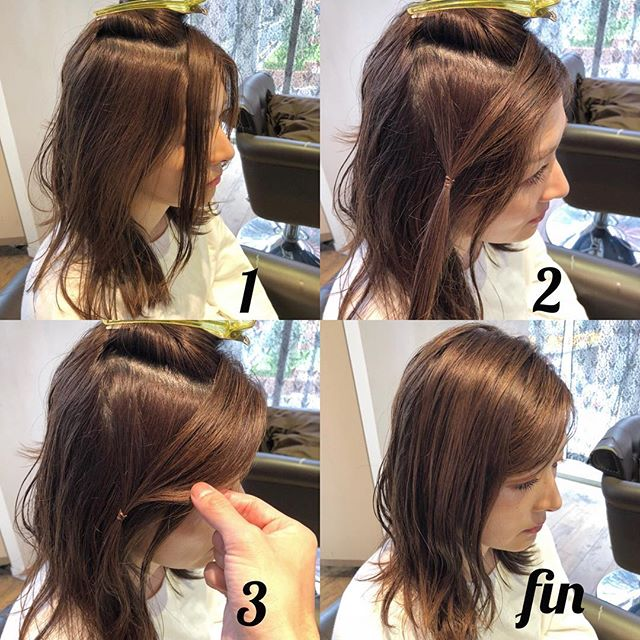 ヘアアレンジ 前髪