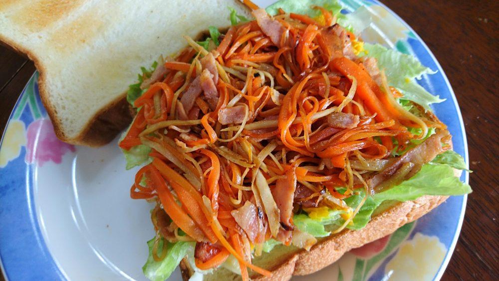 きんぴらとかぼちゃのサンドイッチ 作り方