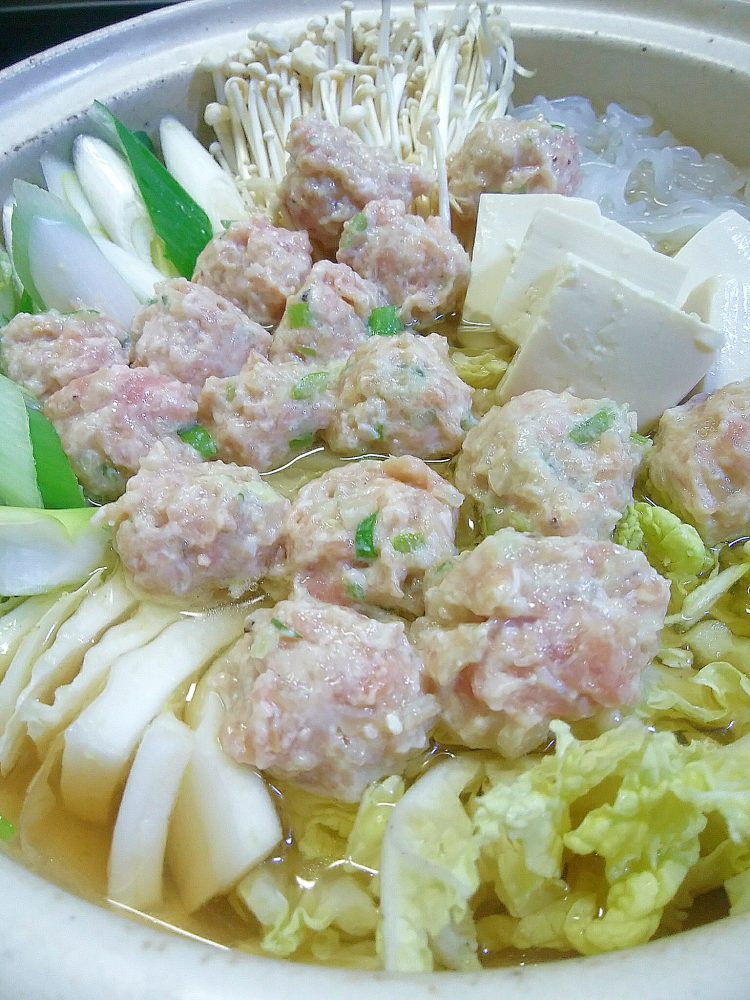 ヤーコン入りふわふわ鶏つくね鍋 作り方