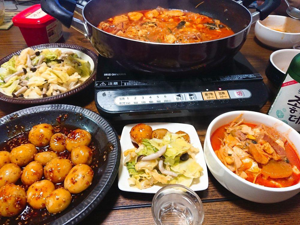 韓国風 食卓 メニュー