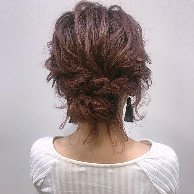 編み込み アレンジヘア