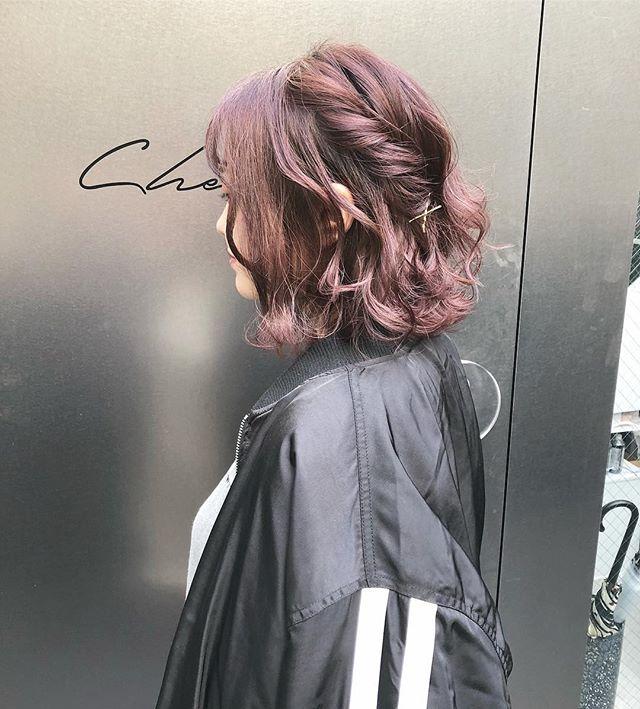 巻き髪 ヘアアレンジ