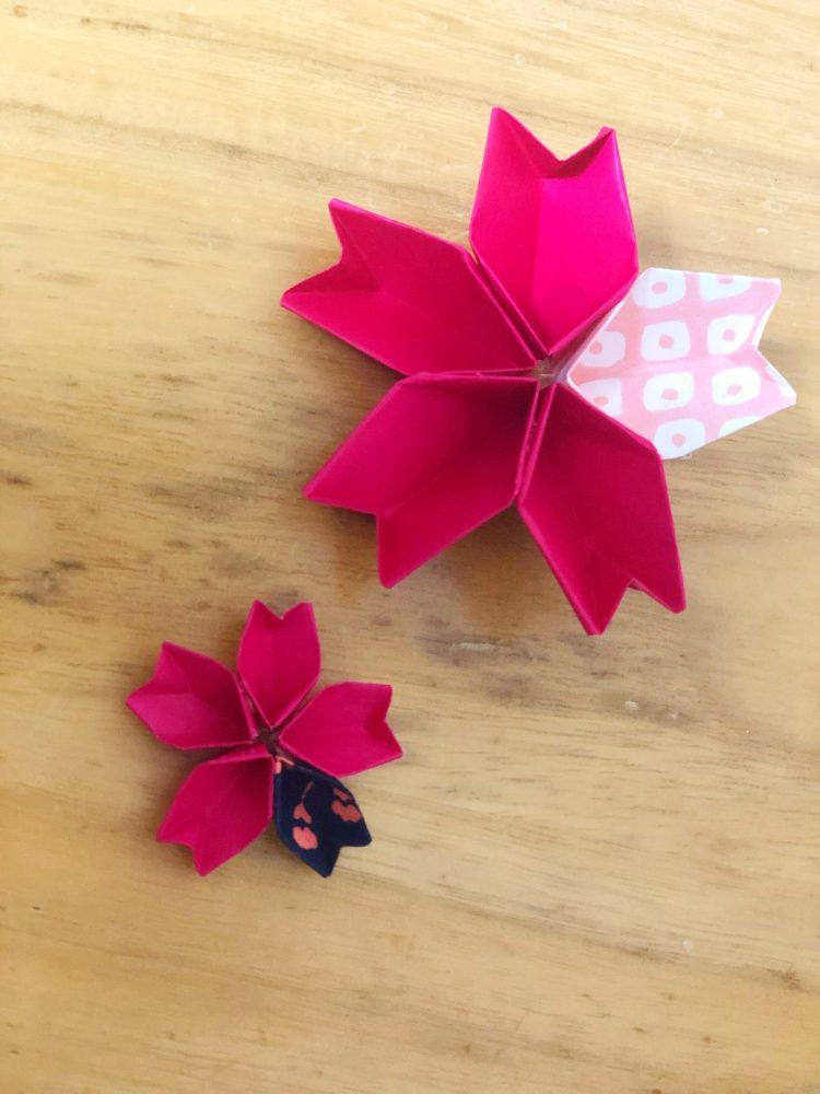 桜 折り紙 完成