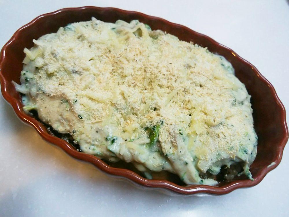 豆腐クリーム玄米ドリア 作り方