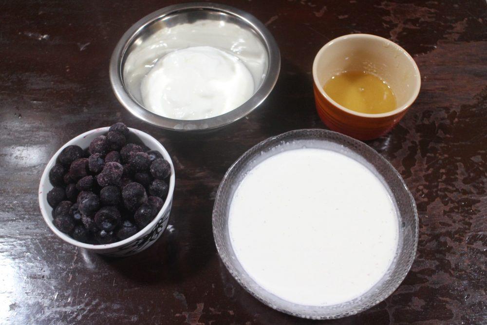 ブルーベリーヨーグルトアイス 材料