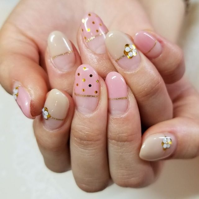 ピンクネイル フレンチ