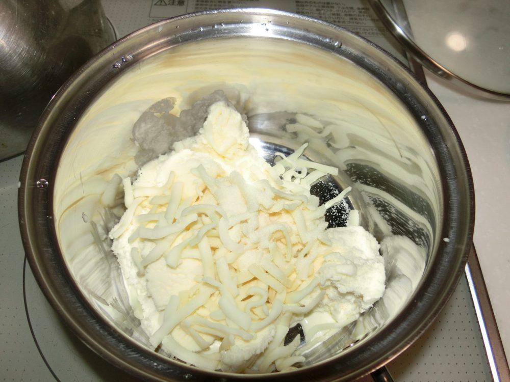 バニラアイス レアチーズ 作り方