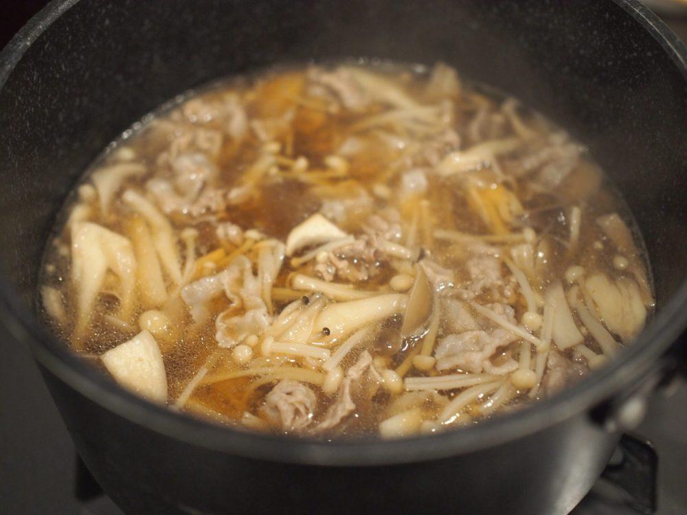 出汁のあんかけ豚肉&キノコ 作り方