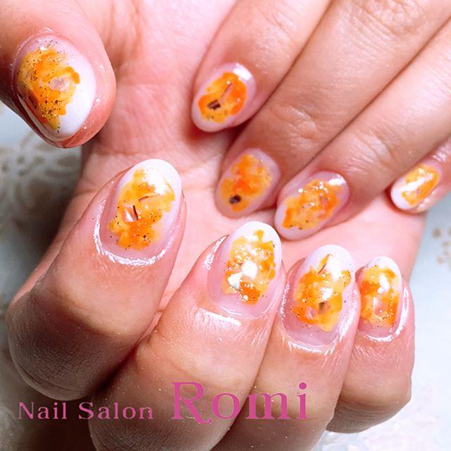 ネイル オレンジ