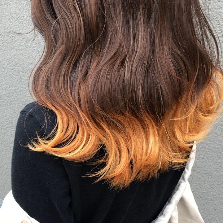 ヘアカラー オレンジ