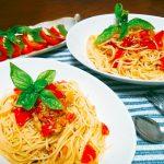 トマト パスタ カプレーゼ