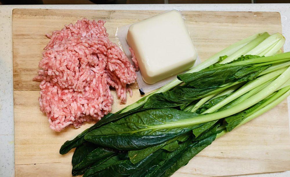 ひき肉 豆腐 小松菜