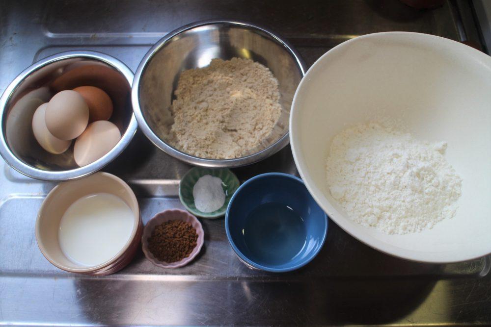 シフォンケーキ 材料