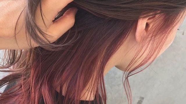 インナーカラー ピンク